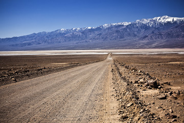 Dirt Road in the Death Valley National Park