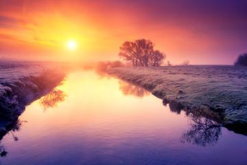 Amazing landscape at sunrise