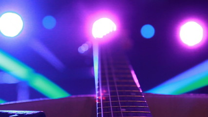 rock concert:  backstage - guitar in the Stage Lighting