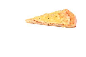 Кусок итальянской пиццы сырной