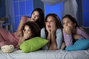 Watching Horror Movie