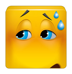 Square emoticon embarrassing situation