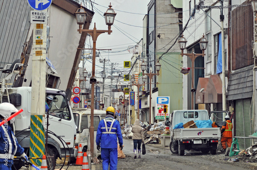 東日本大震災津波被害 - 80128845