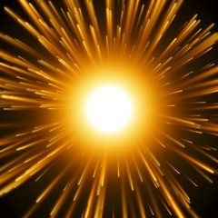 Dazzle Explosion In the Space.