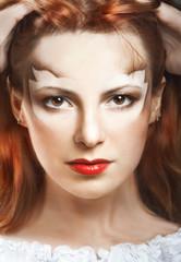 Woman with art makeup
