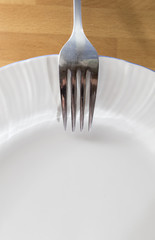 plate and fork