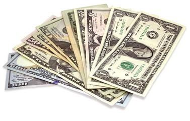 Many Dollar banknotes