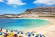 Leinwanddruck Bild - Playa de Amadores beach. Gran Canaria, Canary Islands. Spain