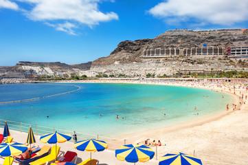 Playa de Amadores beach. Gran Canaria, Canary Islands. Spain