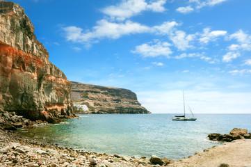 Coast of Puerto de Mogan. Gran Canaria. Canary Islands.