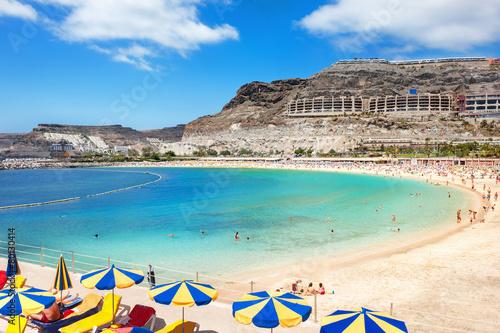 Leinwanddruck Bild Playa de Amadores beach. Gran Canaria, Canary Islands. Spain