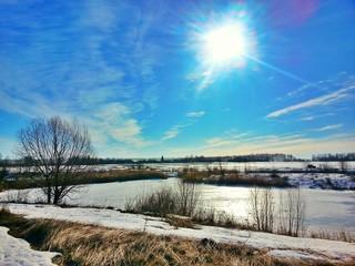Зимние солнце