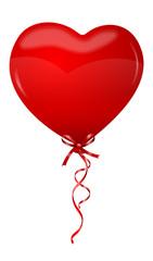 Herz Luftballon rot
