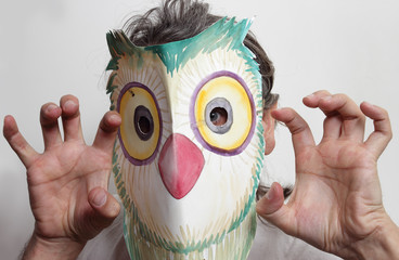 owl mask man