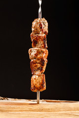 Barbecue shish kebab grilled meat bbq