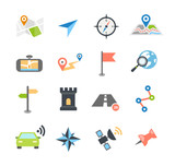 Navigation Icons Flat Design