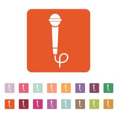 The microphone icon. Sound symbol. Flat
