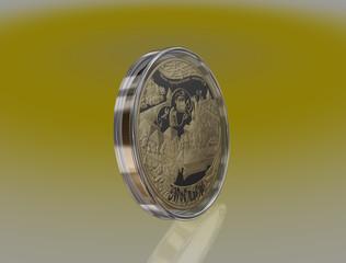 commemorative gold coin 10000 rubles city of Yaroslavl. Russia