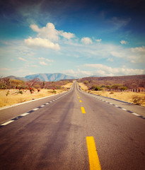 Road in desert