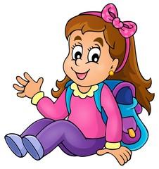 Image with school girl theme 1