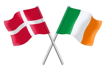 Flags: Denmark and Ireland