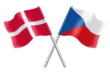 Flags: Denmark and Czech Republic