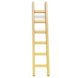 Leinwanddruck Bild - Wooden ladder near white wall