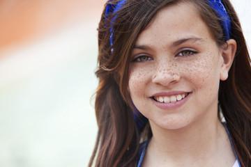 Happy beautiful girl portrait