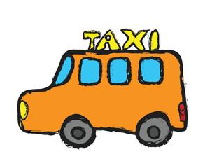 grunge taxi doodle