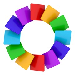 Color circle on white background