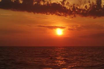 summer sunset on the bay