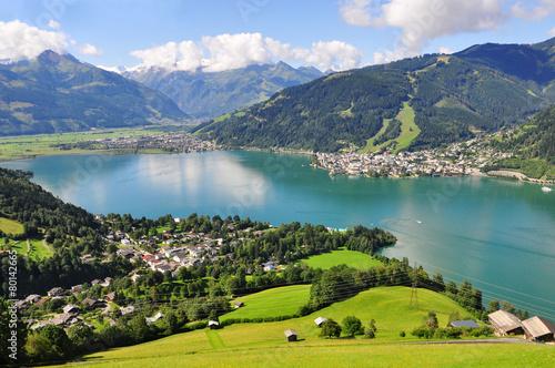 Deurstickers Alpen Zell am See, Salzburger Land, Salzburg, Austria