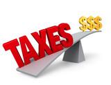Taxes Outweigh Savings poster