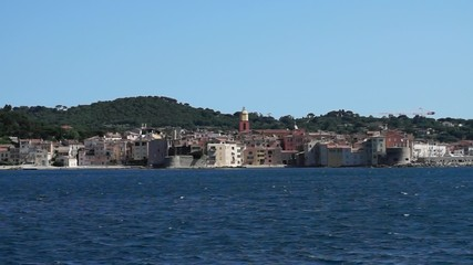 Panoramic view of the city of Saint Tropez.
