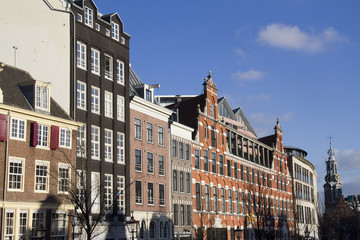Historical houses in Amsterdam
