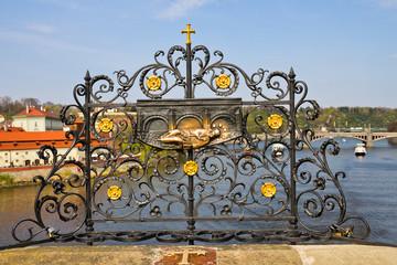 Чехия. Прага. Место казни Яна Непомуцкого на Карловом мосту
