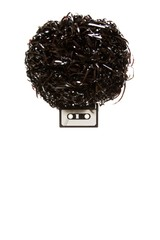 Afro. Lenny Kravitz - A head with afro hairdress made of audio