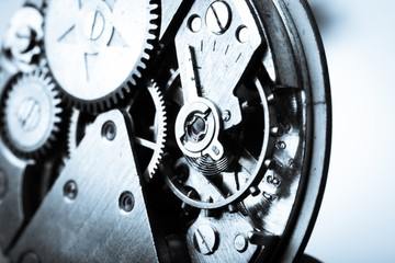 Watches. vintage watch machinery macro detail monochrome