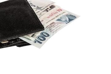 turkish liras in wallet