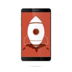 Rocket Phone Illustration