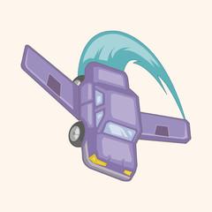 transportation airplane theme elements