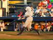 baseball player hitting a pitch - 80147419