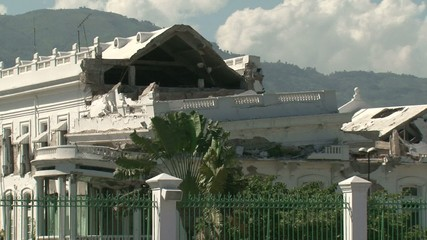 Haiti earthquake-buildings collapsed-panoramic shot