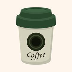 takeaway coffee theme elements