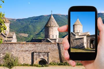 tourist photographs of Tatev Monastery in Armenia