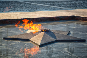Eternal flame-symbol of the Victory in the Great Patriotic War
