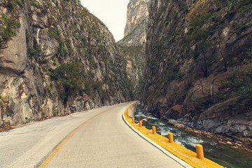 Road in Mexican mountains