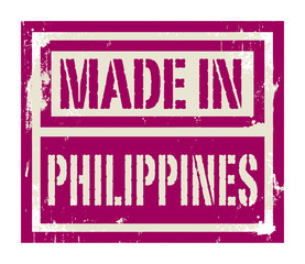 Abstract stamp or label with text Made in Philippines