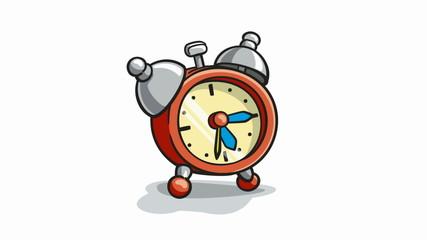 alarm clock ringing cartoon animation with alpha