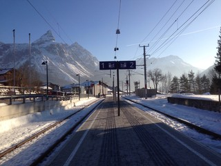 жд станция в горах